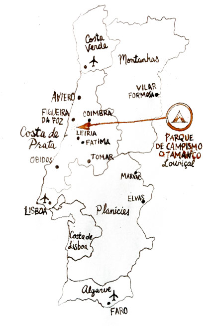Tamanco in Portugal Map